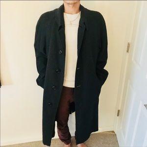 Authentic Vintage Burberry plaid long pea coat